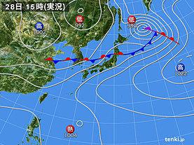 実況天気図(2018年06月28日)