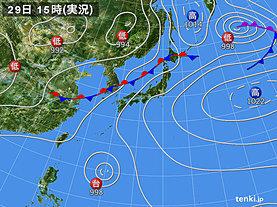 実況天気図(2018年06月29日)