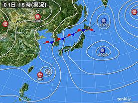 実況天気図(2018年07月01日)