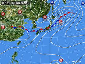 実況天気図(2018年07月05日)