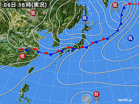 実況天気図(2018年07月06日)