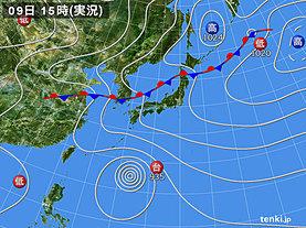 実況天気図(2018年07月09日)