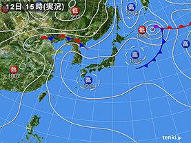 実況天気図(2018年07月12日)