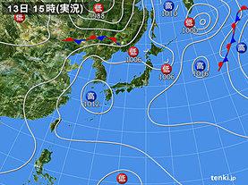 実況天気図(2018年07月13日)