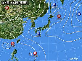 実況天気図(2018年07月17日)
