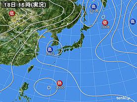 実況天気図(2018年07月18日)