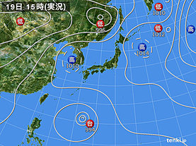 実況天気図(2018年07月19日)