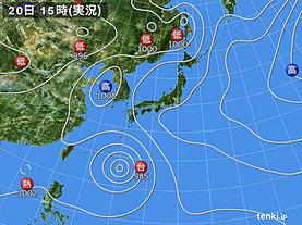 実況天気図(2018年07月20日)