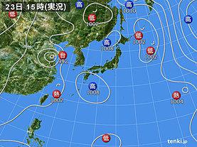 実況天気図(2018年07月23日)