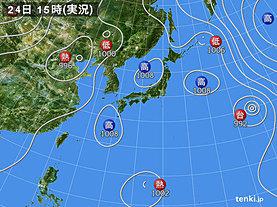 実況天気図(2018年07月24日)