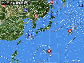 実況天気図(2018年07月25日)
