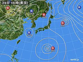 実況天気図(2018年07月26日)