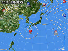 実況天気図(2018年07月30日)