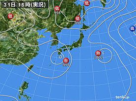 実況天気図(2018年07月31日)