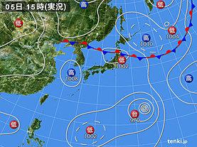 実況天気図(2018年08月05日)