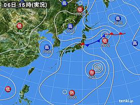 実況天気図(2018年08月06日)