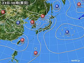 実況天気図(2018年08月24日)