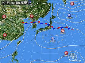 実況天気図(2018年08月29日)