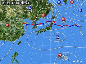 実況天気図(2018年08月30日)