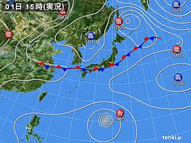 実況天気図(2018年09月01日)