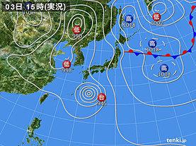 実況天気図(2018年09月03日)