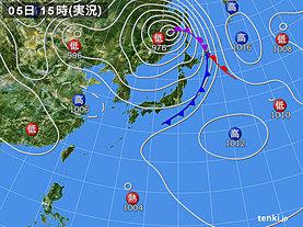 実況天気図(2018年09月05日)