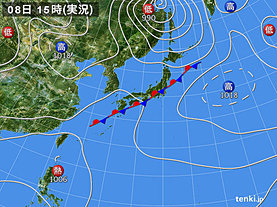 実況天気図(2018年09月08日)