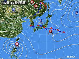 実況天気図(2018年09月15日)