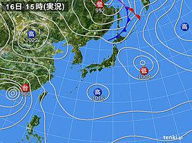 実況天気図(2018年09月16日)