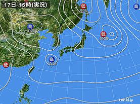 実況天気図(2018年09月17日)