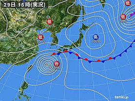 実況天気図(2018年09月29日)