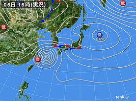実況天気図(2018年10月05日)