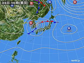 実況天気図(2018年10月06日)