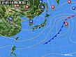 2018年10月21日の実況天気図