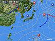 2018年10月25日の実況天気図