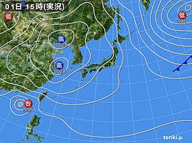実況天気図(2018年11月01日)
