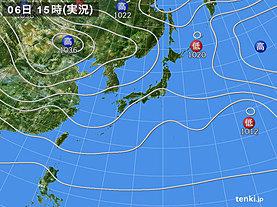 実況天気図(2018年11月06日)