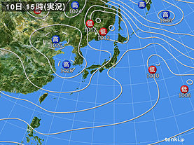 実況天気図(2018年11月10日)