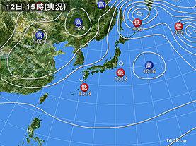 実況天気図(2018年11月12日)