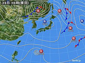 実況天気図(2018年11月26日)