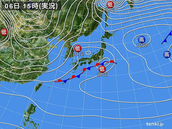 実況天気図(2018年12月06日)