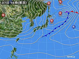 実況天気図(2018年12月07日)