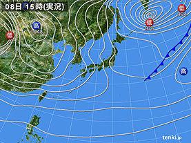 実況天気図(2018年12月08日)
