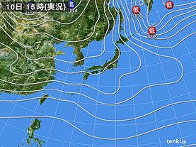 実況天気図(2018年12月10日)