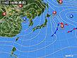 2018年12月14日の実況天気図