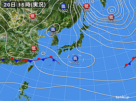 実況天気図(2018年12月20日)