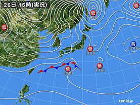 実況天気図(2018年12月26日)