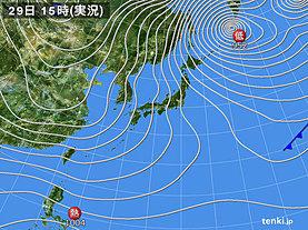 実況天気図(2018年12月29日)