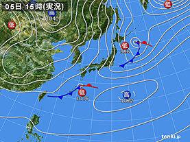 実況天気図(2019年01月05日)
