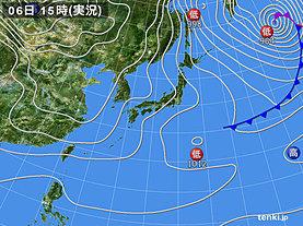 実況天気図(2019年01月06日)